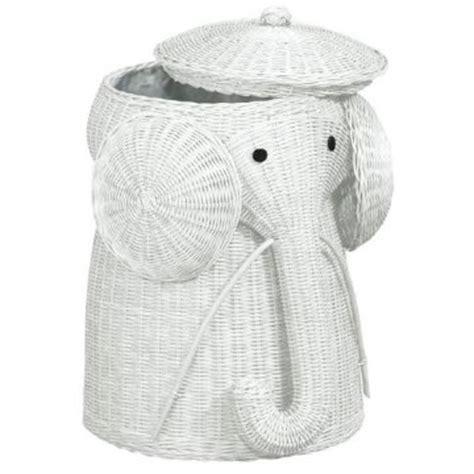 Elephant Laundry Rattan Elephant Her
