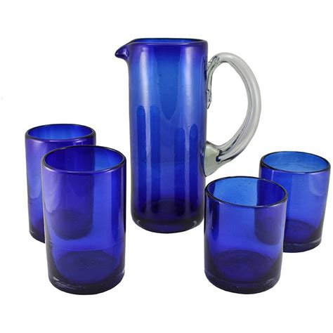 Cobalt Blue Kitchen Canisters handblown glassware collection cobalt blue
