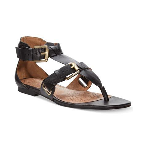 black flat gladiator sandals corso como sangria gladiator flat sandals in black