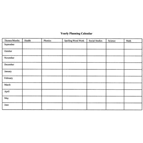 Yearly Plan Template For Teachers how to create monthly and yearly plans for the classroom