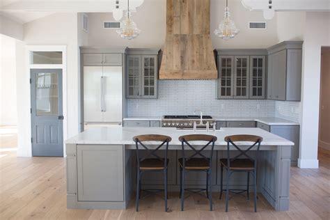 grey farmhouse kitchen open concept custom barnwood