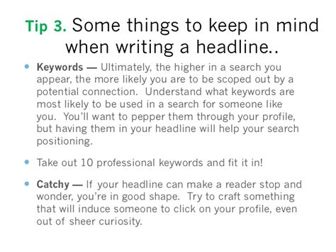 12 Tips On How To Create A Profile by 50 Fantastic Tips To Make Your Linkedin Profile Credible