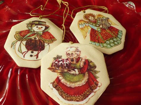 3 vintage scented avon christmas ornaments