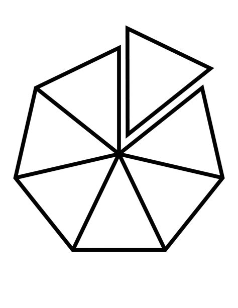 Geometry The Fraction Of The Larger Hexagon That Is - fractions of 7 sided polygon clipart etc