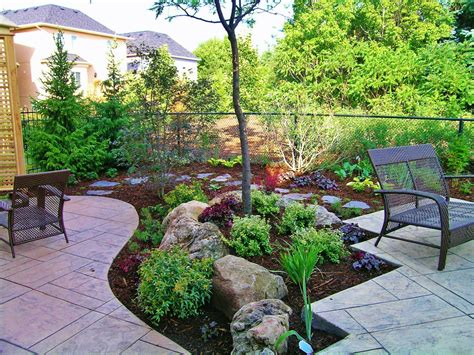 landscaped backyards backyard without grass landscape garten