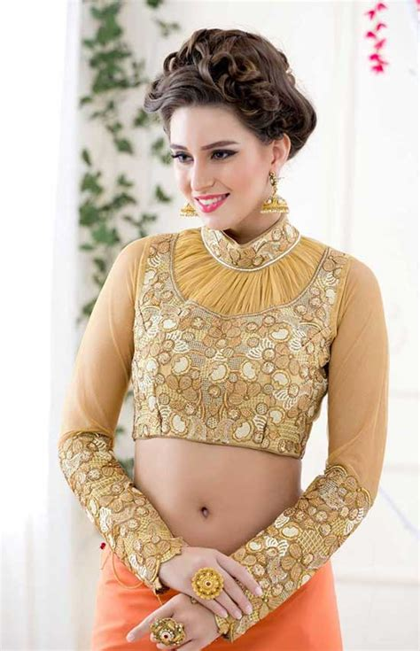 17 latest trend collar neck blouse designs