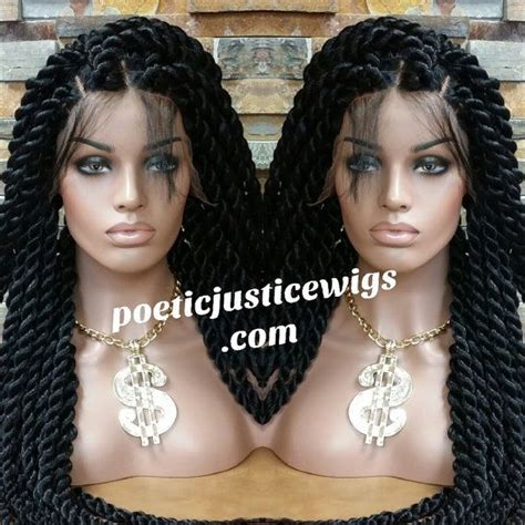 poetic justice rope twist poetic justice handmade jumbo twist lace front wig by