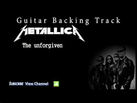 Kaos Metalic The Unforgiven Black metallica the unforgiven guitar backing track