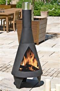 Steel Chimineas Colorado Black Extra Large Steel Chimenea By La Hacienda