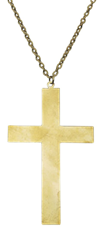 gold cross necklace costume craze