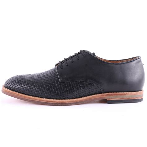 by hudson mens shoes h by hudson hadstone weave mens casual shoes in black