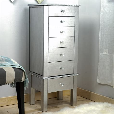 jewelry armoire silver hannah jewelry armoire silver leaf hives and honey