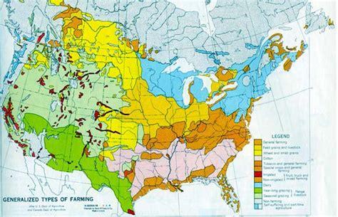 agriculture map of usa uwec geog 111 vogeler us agricultural regions