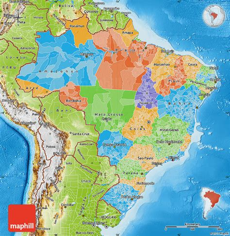 brazil political map political map of brazil physical outside