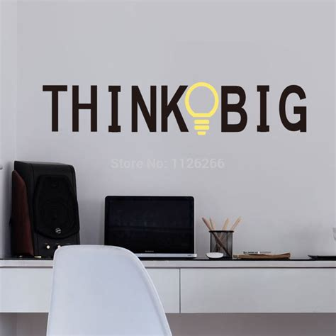aliexpress buy vinyl wall stickers quotes think big