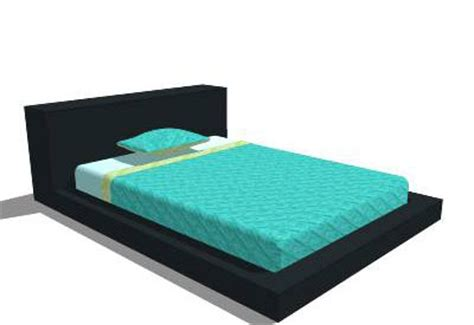 blu dot bed sketchup components 3d warehouse bed blu dot full bed