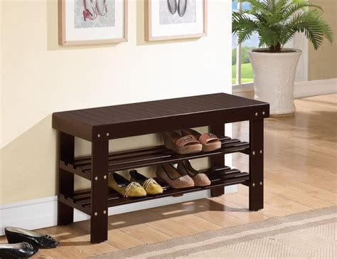 foyer storage metal style shoe storage bench entryway stabbedinback