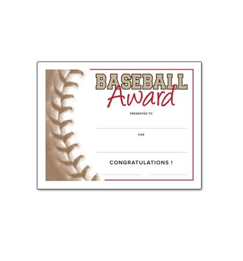 Baseball Award Template free certificate templates paper and certificate