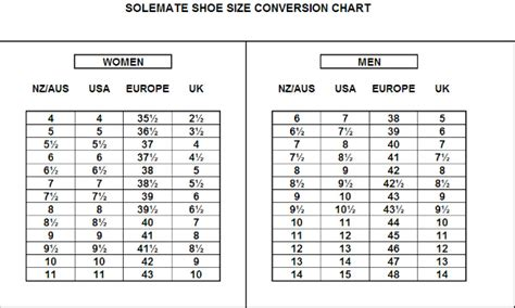 shoe size chart nz to uk convert european shoe size to new zealand