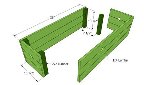 flower box plans myoutdoorplans  woodworking plans