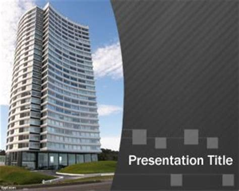 layout of building ppt free architect powerpoint template