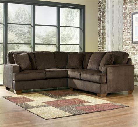 Sectional Sofas Milwaukee Atmore Chocolate 2 Sectional With Left Arm Facing Sofa By Signature Design By