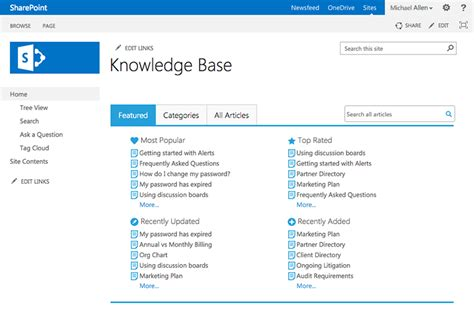 knowledge base design template knowledge base 2 5 for sharepoint from bamboo solutions