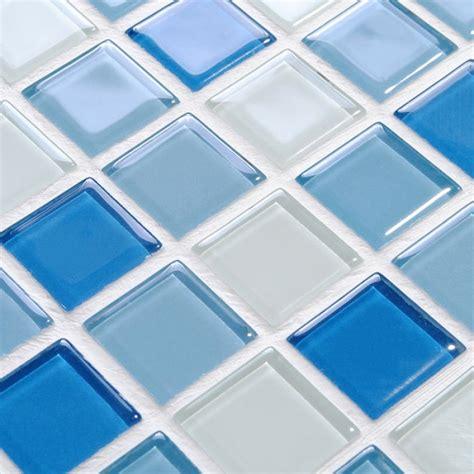Crystal glass mosaic tile wall stickers kitchen backsplash tile swimming tile floor stickers
