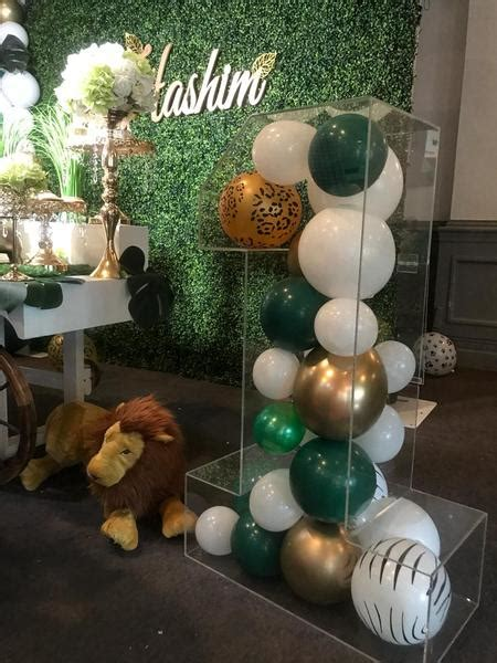 clear acrylic perspex number balloon decoration display
