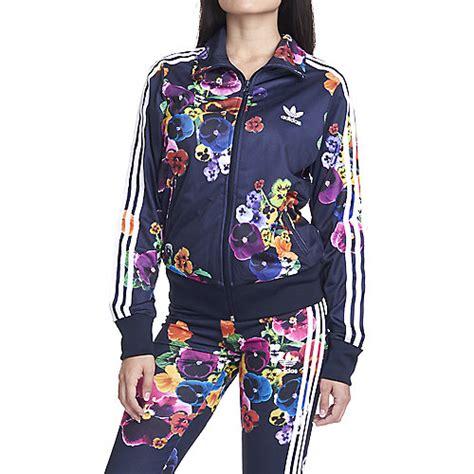 Jaket Adidas Floral s floral burst superstar track jacket navy shiekh