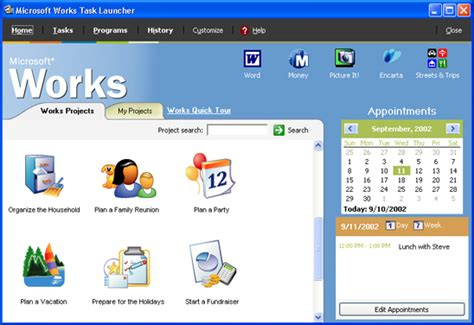 Work Microsoft Microsoft Works Suite 2003 Review Cnet