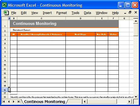 continuous monitoring plan template definition of a track wikidi