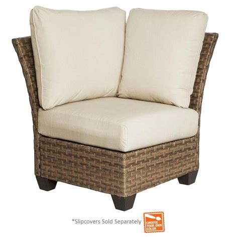 Patio Chairs Sold Separately Hton Bay Tobago Corner Patio Sectional Chair With