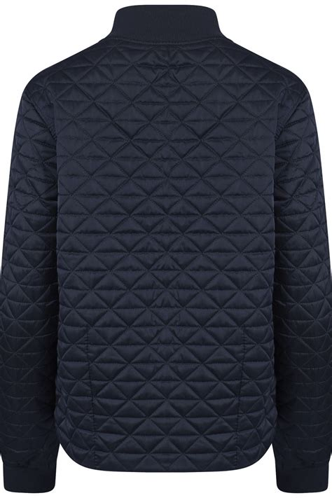 Lightweight Quilted Jacket Womens by Womens Quilted Collared Zipped Autumn Navy Jacket Lightweight Sizes Uk 8 16