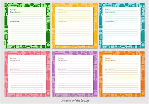 recipe card template free vector retro recipe cards vector set free vector