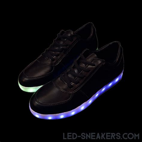 Led Shoes Black chaussures led lumineuses noir led sneakers