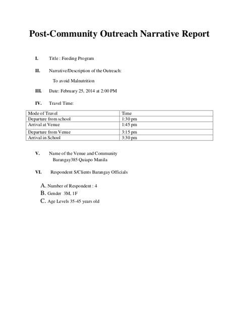 Outreach Report Template