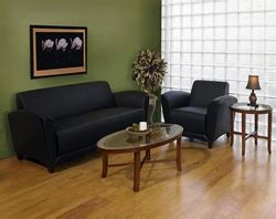 mayline santa leather lounge furniture set at office