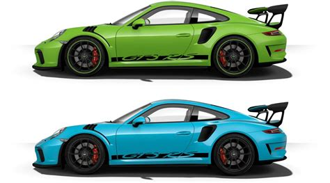 porsche gt3 rs 2019 porsche 911 gt3 rs color options
