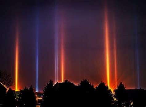 winter phenomenon illuminates skies in a