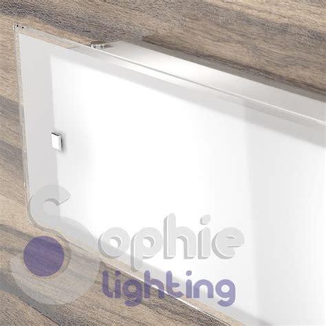 applique soggiorno lada applique muro lunga 58 cm design moderno vetro