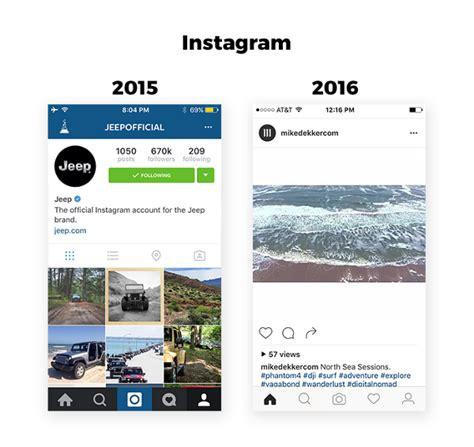instagram design trends de app designtrend van 2016 is complexion reduction