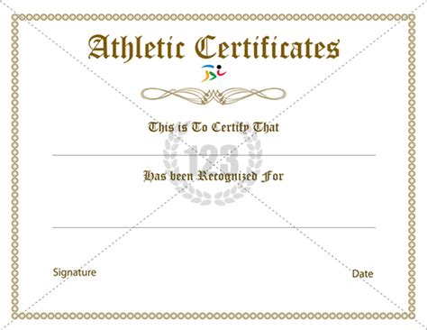 athletic certificate template athletic certificates driverlayer search engine