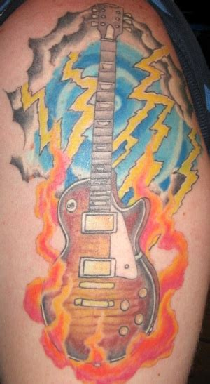 les paul guitar tattoo designs gibson tattoos new photos added
