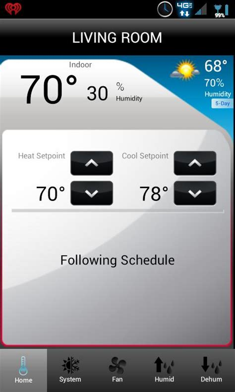 honeywell total connect comfort app total connect comfort android apps on google play
