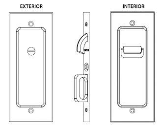 Emtek Products Inc 2115 Privacy Emtek Modern Solid Brass Mortise Pocket Door Privacy Latch Emtek 2115 Template