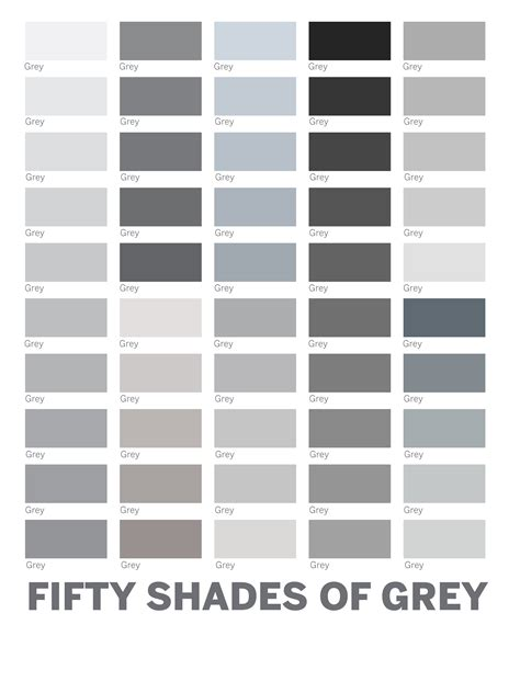 shades of grey color chart different colors of grey