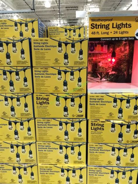 feit electric string lights costco led outdoor weatherproof string light set lighting ideas