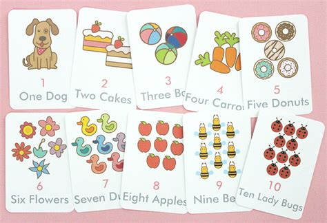 card templates to cound free printable counting flash cards