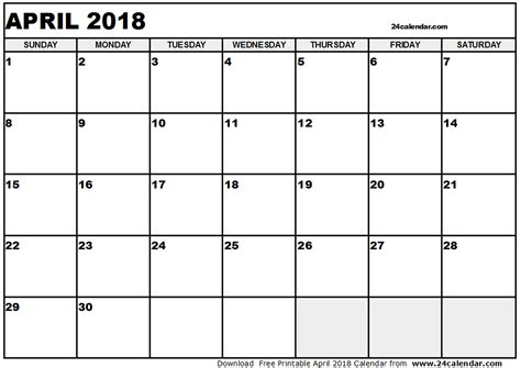 House Plans Single Level April 2018 Calendar Pdf 2018 Calendar With Holidays